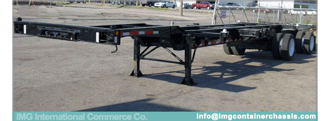 Used 20-40-45 Foot Extendable Container Chassis, IMG